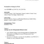 Seite des PGR-Protokolls
