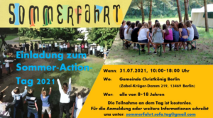 Plakat Sommer-Action-Tag